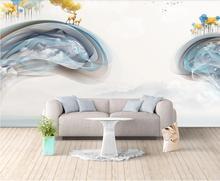 Private custom wallpaper mural abstract Zen mother-child deer mood bedroom living room background
