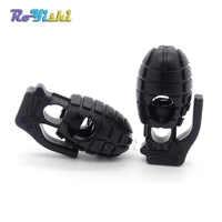 1000 unids/pack estilo de Granada de plástico tapón de bloqueo negro para Paracord/zapato de encaje