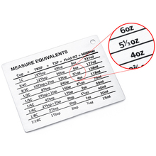 11 x 8.5cm Cooking Conversion Chart Baking Scale Plate Kitchen Measuring Cups Home Magnetic Mount