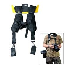 Double Dual Shoulder Camera Neck Strap Quick Release for Digital SLR DSLR