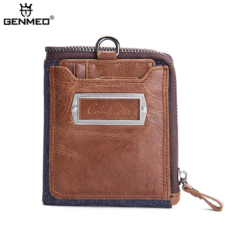 New Arrival Genuine Leather Wallets Men Cow Leather Clutch Bag Real Leather Credit Card Holder Females Coin Purse Bolsa купить