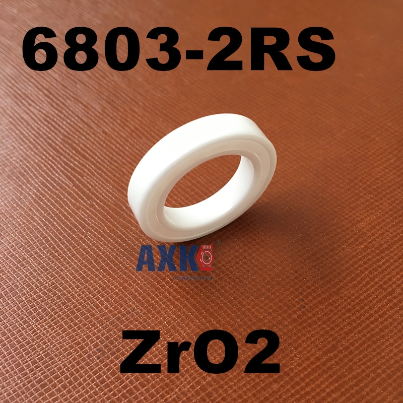 Free shipping 6803-2RS full ZrO2 P5 ABEC5 ceramic deep groove ball bearing 17x26x5mm 61803-2RS 6803 2RS MT bearing, bike bearing free shipping 10pcs textile machine embroidery machine parts bearing non standard piece bearing b6003 2rs 15 17 35 10 19