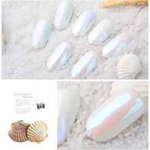 7 Colors Pearlescent Pigment Glliter Pigment Nail Glitter Pearl Powder Nail Art Glitter Nails Art Decorations Maquiagem #a(China)