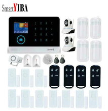 SmartYIBA WIFI GSM Alarm System RFID Arm Disarm Burglar Alarm Wireless Home Security APP Remote Door