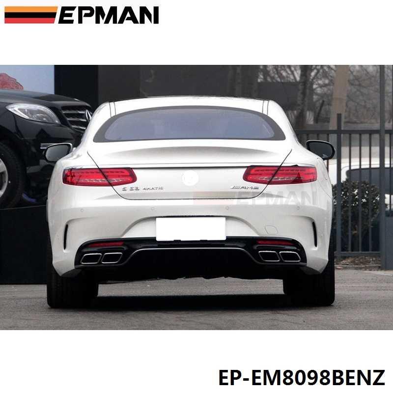 Хром 304 нержавеющая сталь для Mercedes-Benz AMG S65 S63 E63 глушитель наконечники W222 W212 W205 R231 W218 EP-EM8098BENZ
