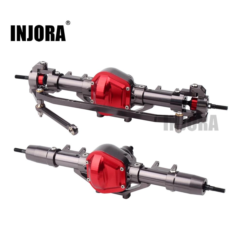 INJORA RC Car CNC Metal Front / Rear Axle For 1:10 RC Rock Crawler Car Axial SCX10