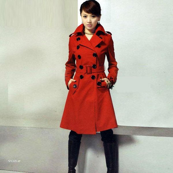 5 off per $50 Free shipping 2015 korean winter double-breasted turn-down collar plus size  women coat 268LK