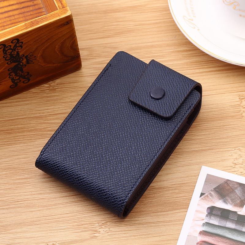 2019 New PU Leather ID Bank Card Holders Coin Purse for Women Men RFID Blocking Wallet Business Slim Credit Card Case in Card ID Holders from Luggage Bags
