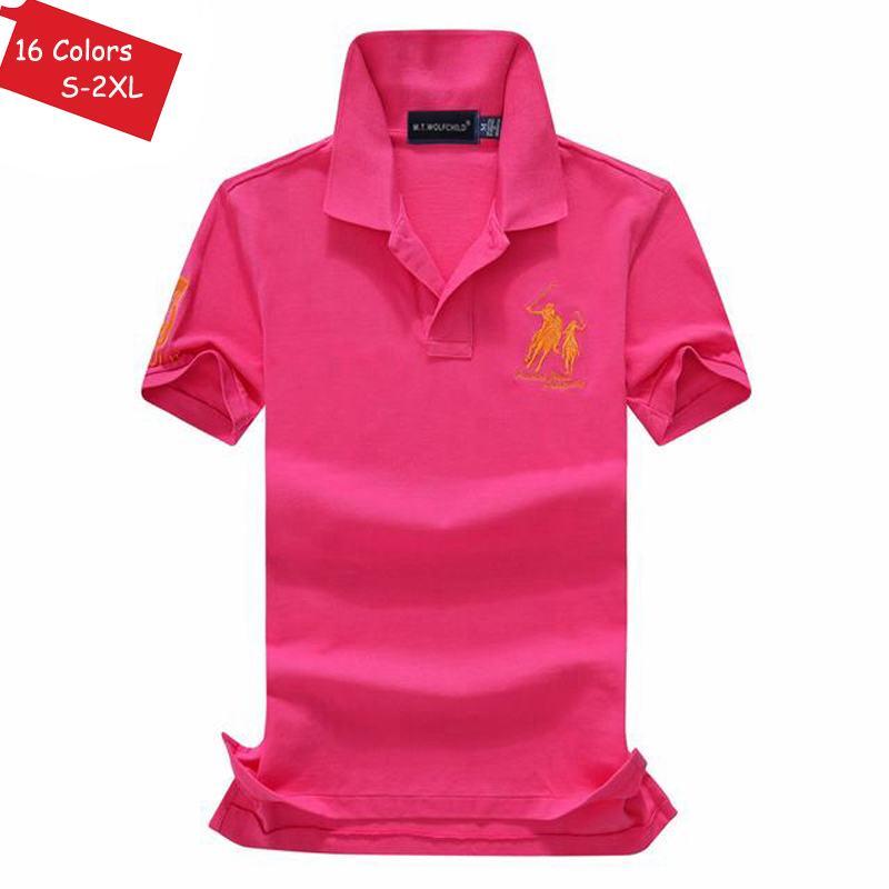 Image 5 - Good quality 2019 Summer brand Mens short sleeve horse polos  shirts casual mens cotton lapel polos shirts fashion mens slim  topsPolo