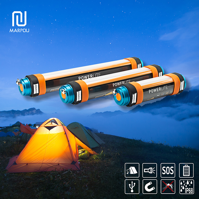 LED Portable Emergency Lamp Dimmable SOS Flashlight Mosquito Light Waterproof IP68 Outdoor Camping Light Magnetic Rechargeable