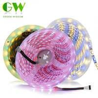 LED bande lumineuse 5050 DC12V 60 LED s/m blanc/blanc chaud/blanc froid/RGB/RGBW/rose/bleu glace bande de LED 5 M