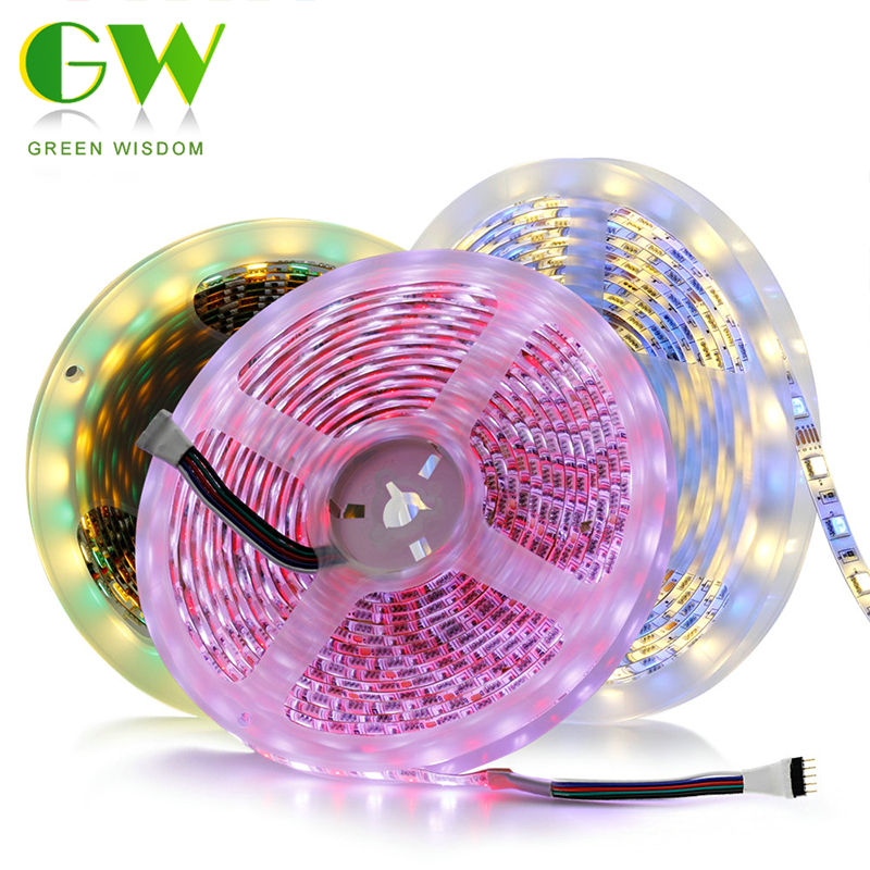 LED Strip Light 5050 DC12V Flexible Diode Tape White / Warm White / Cold White / RGB / RGBW / Pink / Ice Blue LED Neon Ribbon 5M