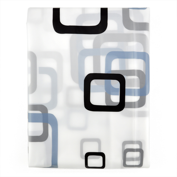 SDFC Modern Bathroom Shower Curtains Long With Hooks 180 X 200 Cm Square