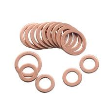 10/20 piezas junta anular plana de Arandela de cobre sólido enchufe de sumidero accesorios de sello de aceite 10*14*1MM accesorios de Hardware de sujeción 10x14x1MM