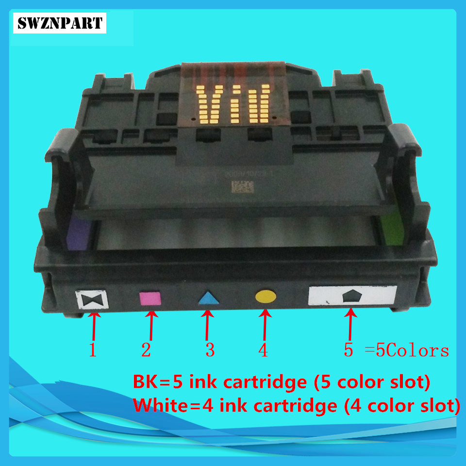 Print head 4 & 5 Color Slot for HP6000 6500 7000 7500A B109A B110A B209A B210A 178 920 XL C410A C510A CN643A CD868-30002 cn642a for hp 178 364 564 564xl 4 colors printhead for hp 5510 5511 5512 5514 5515 b209a b210a c309a c310a 3070a b8550 d7560
