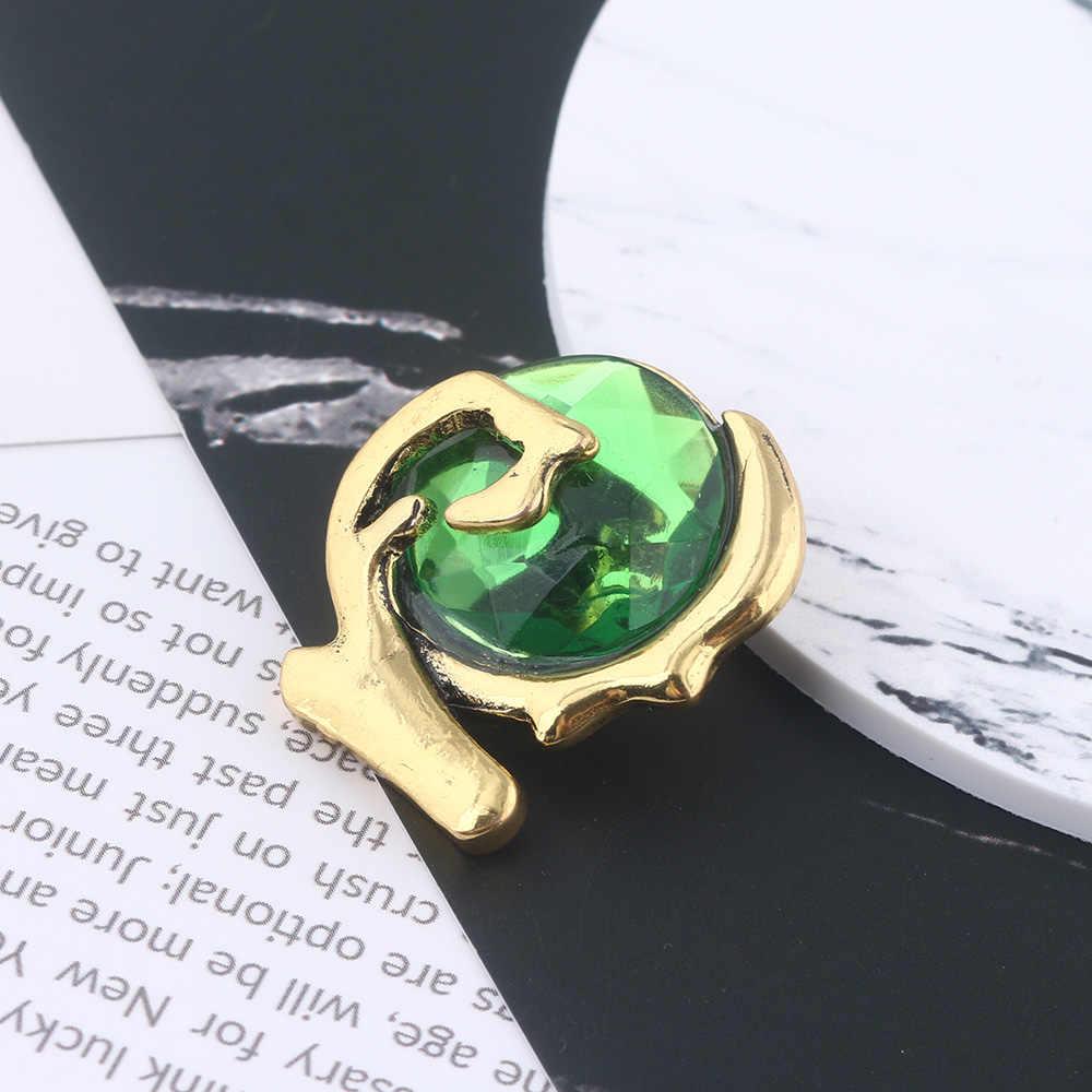 SG Panas Permainan Legenda Zelda Bros Biru Enamel Pin Triforce Perisai Lencana Pin Pria Mantel Natal Perhiasan