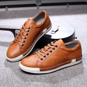 Image 3 - Кроссовки Gentlemans мужские кожаные, роскошные кеды на шнуровке, плоская подошва, повседневная обувь для вождения