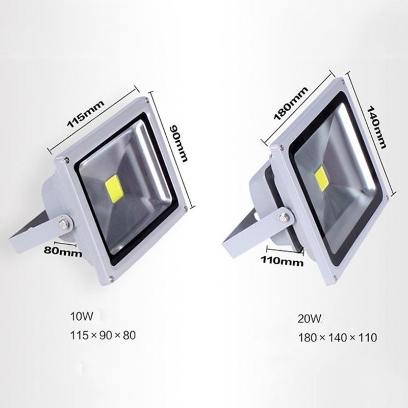 Floodlight IP65 Waterproof Led Flood Light Exterior Spotlight Security Light Projector Lamp for Outdoor Warm White JDH99