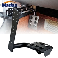 Marlaa Metal Dead Pedal Left Side Foot Rest Kick Panel for Jeep Wrangler JK JKU Unlimited Rubicon Sahara Accessories Parts