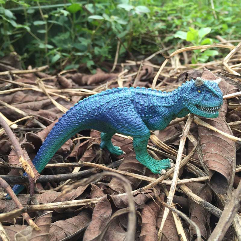 POP Jurassic Park World Carnivorous Solid PVC Carnotaurus T-Rex Classic Dinosaur Model Action Figure Toys For Kids Xmas Gift