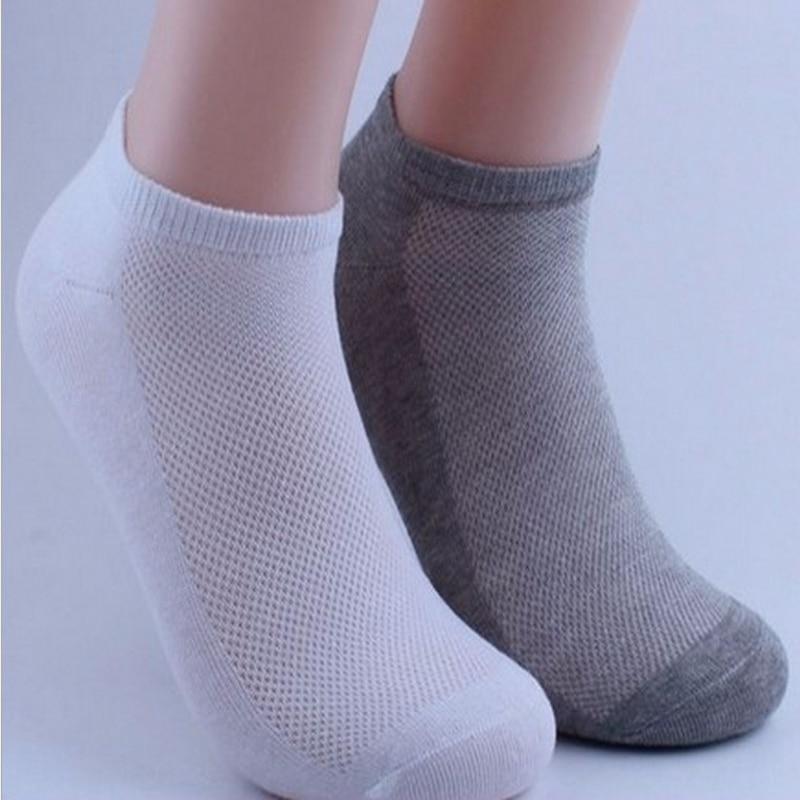 5Pair Men Ankle Socks Polyester Summer Mesh Thin Boat Socks Unisex Short Socks Calcetines