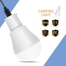LED Solar Lamp Outdoor Lighting Emergency USB Rechargeable Light Bulbs 5V~8V 15W Power Energy Saving Bulb