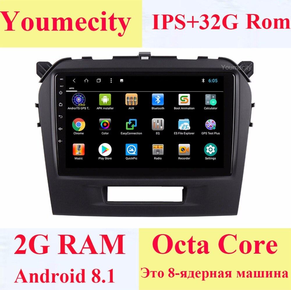 Youmecity Android 8,1 автомобильный DVD для Suzuki Vitara 2015 2017 2016 gps Радио Видео мультимедийный плеер емкостный ips экран + Wi Fi