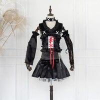 Anime DEATH NOTE cosplay Misa Amane MisaMisa Halloween cos famela balck Witch Gothic Lolita set cosplay costumes