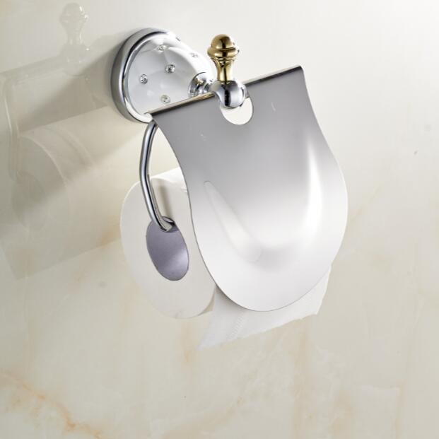 White Ceramic Toilet Paper Holderroll Holdertissue Holdersolid