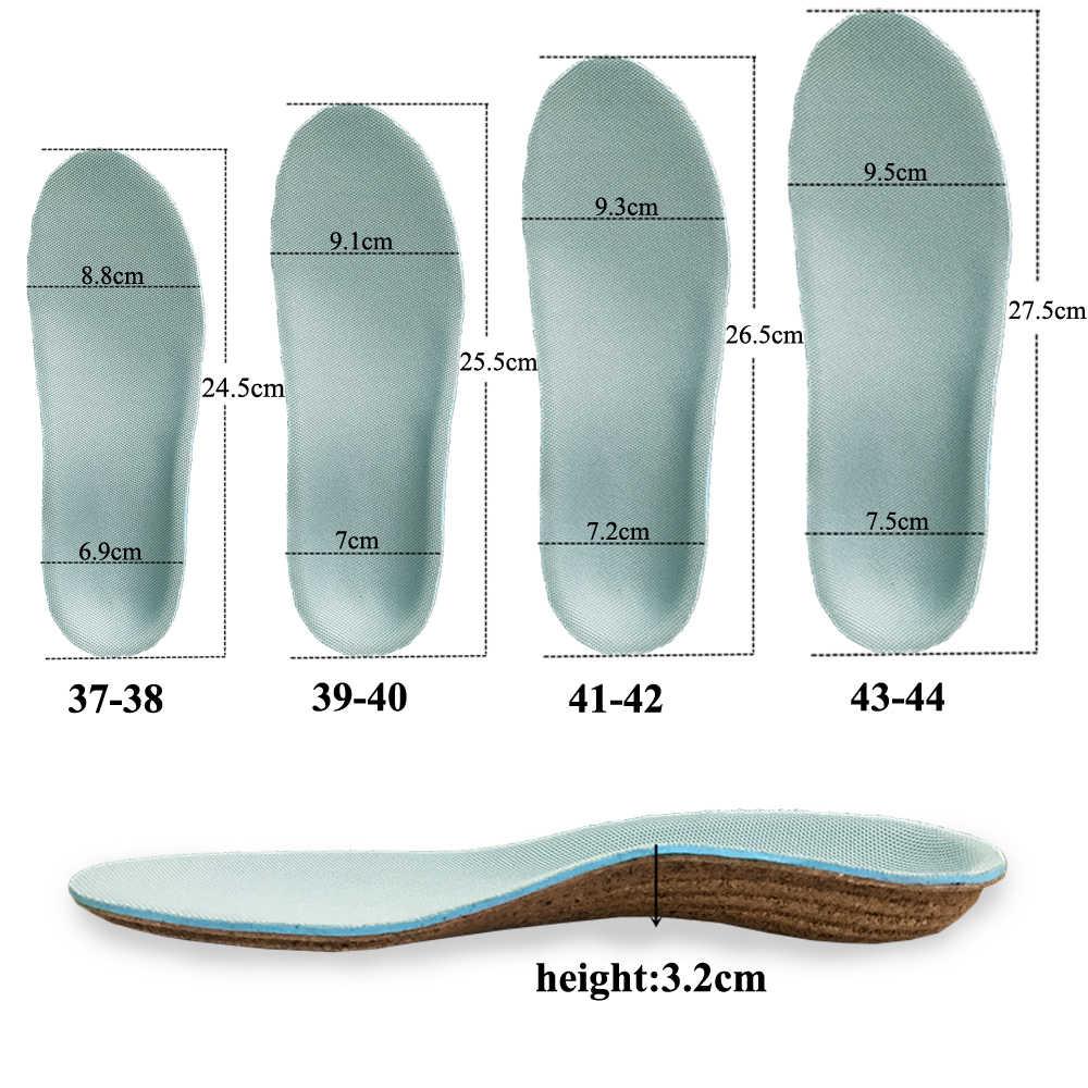 KOTLIKOFF пробковая подошва ортопедические стельки для плоской стопы Higt Arch поддерживает вкладыши в обувь orthotic стелька подушечки для ухода за ногами