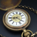 Classic Design Bronze Cover Mechanical Pocket Watch New wholesale ship with tracking number H057
