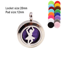 The Beautiful Dancer 20mm Perfume Lockets Stainless Steel Locket Free Pads  Diffuser Pendant (Free Pads)