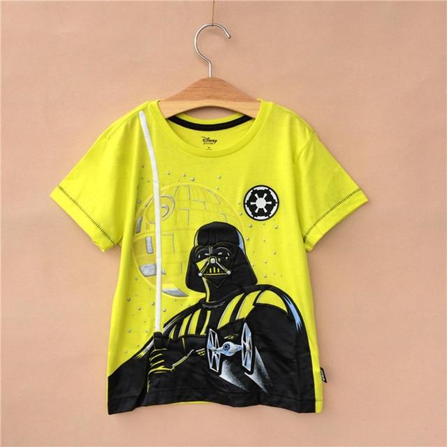 2017 Star war kids boy summer Tee Darth Vader robot boy T-shirt sz 2 years