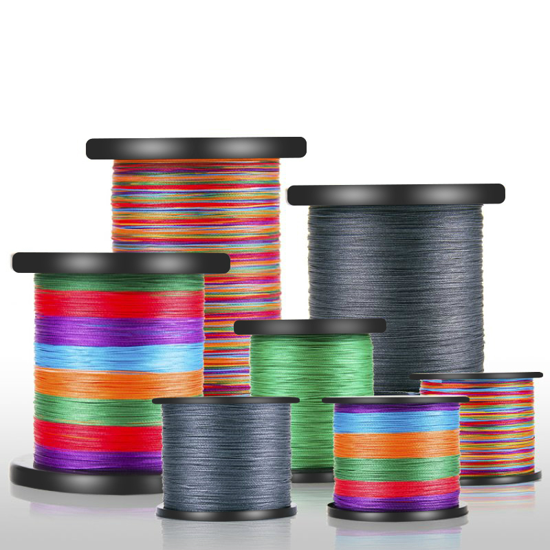 High Quality Ultra Strong Pulling 500m Fishing Line 9 Braid Strong Horse Fishing Wire Main Line Durable PE Fishing Gear Subline