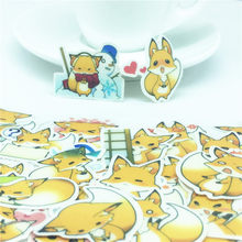 40 PCS Cute yellow fox Sticker Animal Cartoon Punk Game Stickers for DIY Skateboard Guitar Suitcase Laptop Bicycle Stickers(China)