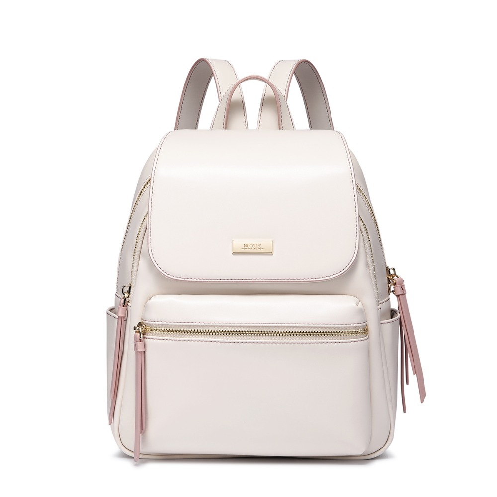 Womens PU Leather Backpack Ladies Fashion Tassel Double Shoulder Bags Female Elegant All-match Beige Travel BackpackWomens PU Leather Backpack Ladies Fashion Tassel Double Shoulder Bags Female Elegant All-match Beige Travel Backpack