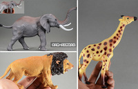 Special offer toy animal model with large African elephants giraffes Lions odor realistic modeling Action & Toy Figures