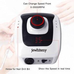 Image 3 - 32W 35000 giri/min macchina per Manicure elettrica macchina per trapano per unghie apparecchio per Manicure Pedicure con tagliaunghie strumento per punte da trapano