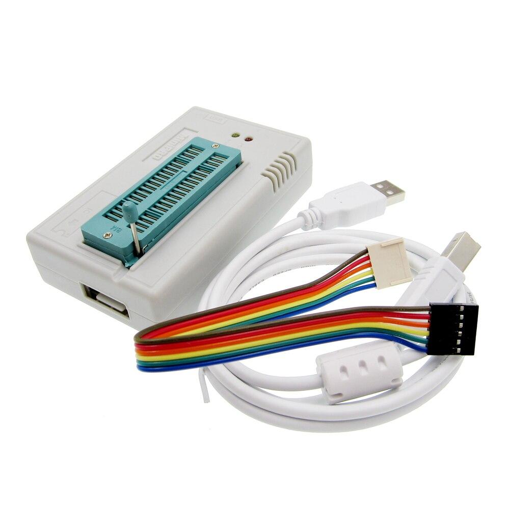 V7.05 TL866II Plus EEPROM PIC AVR TL866 USB Universal BIOS Programmer 24 93 25 mcu Bios EPROM better than TL866cs/TL866A newest v6 1 tl866cs programmer 21 adapters ic clip high speed tl866 avr pic bios 51 mcu flash eprom programmer