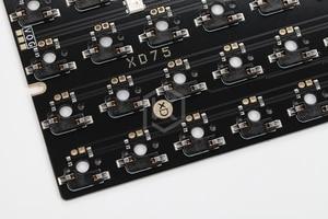 Image 5 - Механическая клавиатура xd75re xd75am xd75, настраиваемая клавиатура с 75 клавишами, подсветка RGB PCB GH60, 60% программируемый gh60 kle planck, переключатель горячей замены