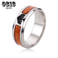 Tungsten Carbide Ring Wood Inlay Wedding Band For Men Women High Polished Edges Finish Comfort Fit