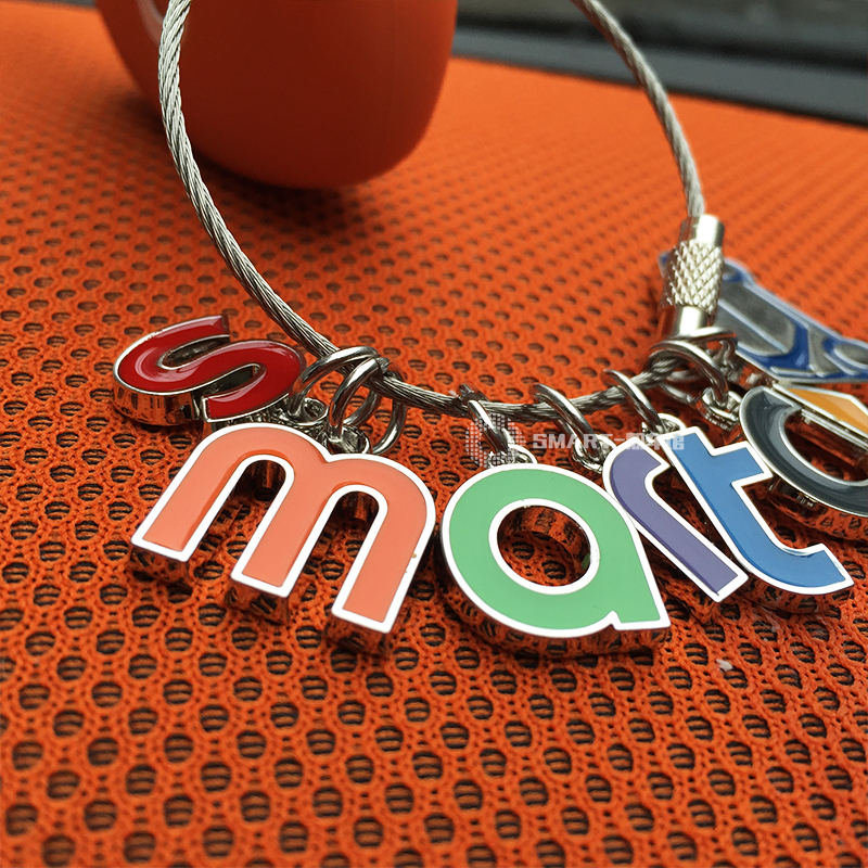 Smart Letter Logo Design Key Case Car Key Chain Fashion Zinc Alloy Ring Auto Keyring For Smart 450 451 Sart 453 Fortwo Forfour Key Rings Aliexpress