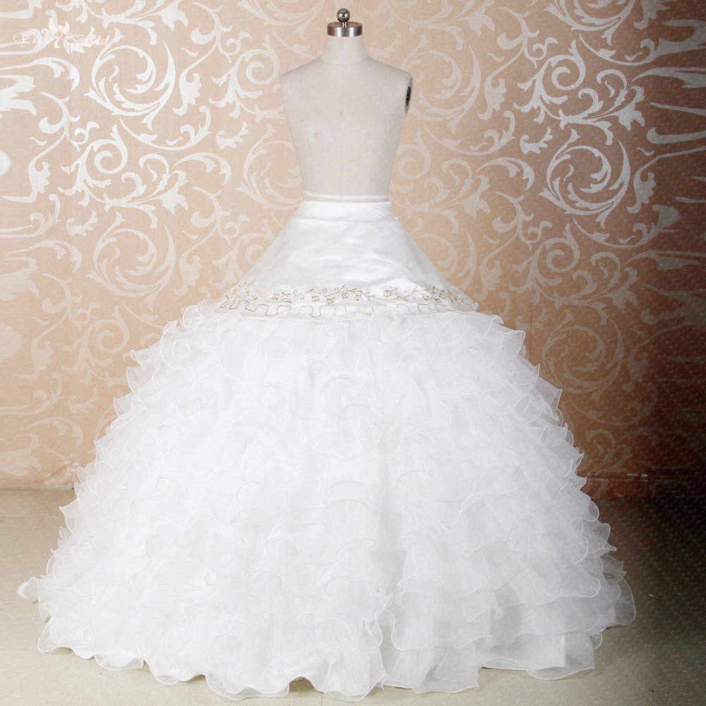 Rs275 Custom Made Diy Seperate Fluffy Organza Skirt Used For Ball Gown Dress Detachable Skirts Quinceanera Dresses