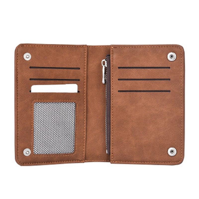 Ny Zipper plånbok retro frostat läder mäns plånbok Hög kvalitet - Plånböcker - Foto 2