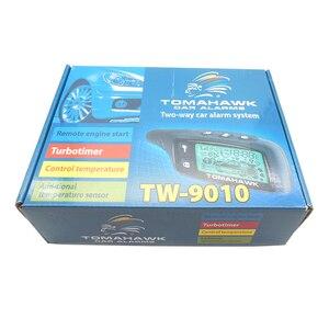 Image 5 - Système dalarme pour voiture, TW9010, avec système dalarme bidirectionnel, avec démarrage du moteur à distance LCD, Tomahawk, Version anglaise/russe
