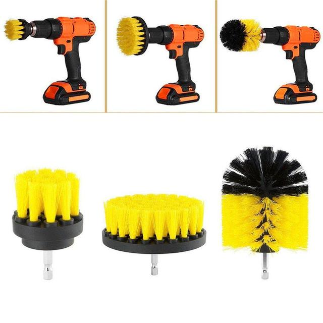 ALLSOME Power Scrubber Brush Drill Brush Clean for Bathroom Surfaces Tub Shower Tile Grout Cordless Power Scrub Cleaning Kit