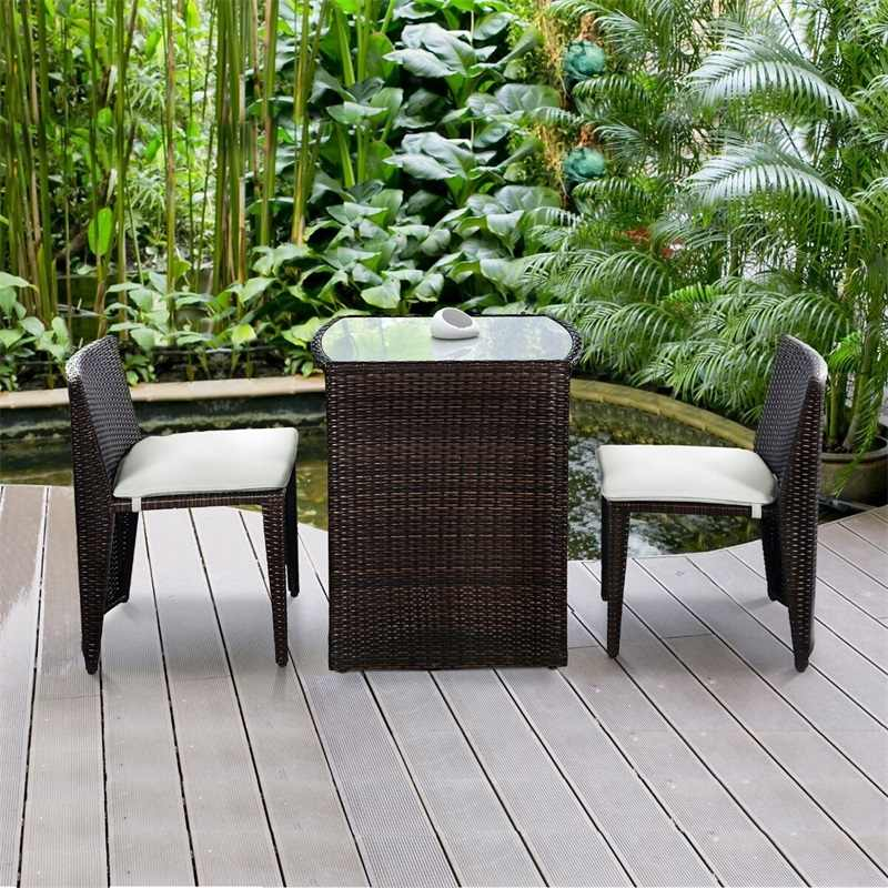 Wicker Patio Cushioned Outdoor Chair