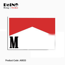 red and black logo sticker cool sign waterproof suitcase box laptop guitar luggage skateboard bicycle toy lovely A0033 stickers(China)
