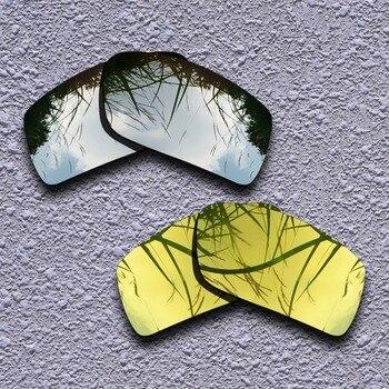 eaf0cd66ef De titanio de plata y oro 24 K polarizadas lentes Oakley Gascan gafas de sol