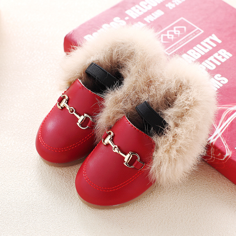 comfy kids winter children shoes warm baby shoes for girl add cotton dance fashion student leisure cute leather princess shoes kids leather shoes sweet princess girls baby shoes cut outs flower shoes children rivet student dance shoes
